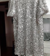 Mohito šljokasta srebrna haljina%