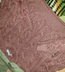 Zara crop koncani pulover