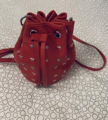 Nova Mango crvena torbica sa zvjezdicama