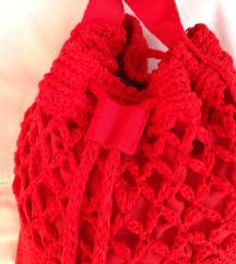 NOVA crvena ručno izrađena  torba-ruksak
