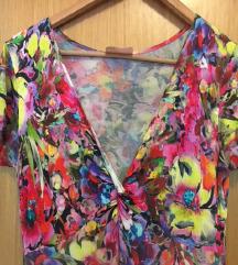 Pamučna cvjetna haljina asimetrična 38-40