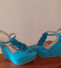 Tirkizne sandale vel 36