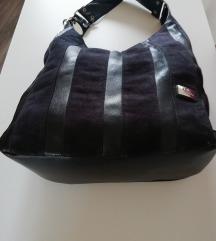 Velika crna torba DR DAREN PJ - koža - antilop