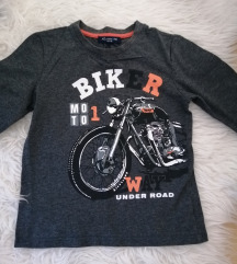 Majica biker siva