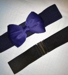 Novi plavi elastični pojas s mašnom
