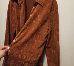 rez Vintage smeđa košulja s uzorkom