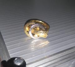 Prsten bijelo i zuto zlato 585 (NOVA KOLEKCIJA)