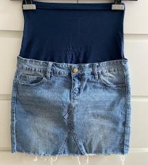 Traper mini suknja za trudnice, vel Xs