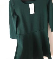 Nova smaragdno zelena skater haljina