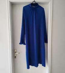 Plava midi haljina Zara