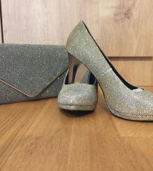Šljokaste cipele i torbica-komplet