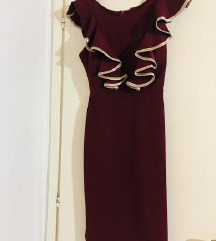 Elegantna bordo haljina