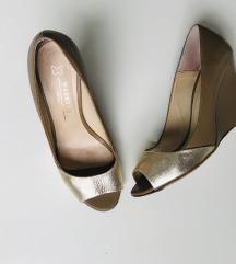 Weekend MaxMara zlatno krem sandale