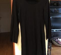Obicna pamučna crna haljina