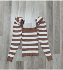 Novi pulover sa puff rukavima - NIKAD NOŠENO