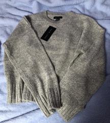 New look sivi pulover pleteni S 36
