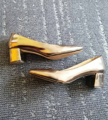 Zara srebrene cipele na petu