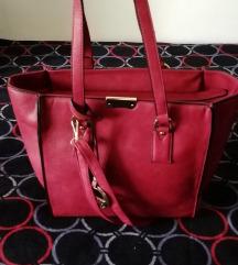 Tamno crvena/ bordo veca torba nova