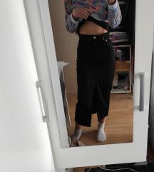 Crna jeans suknja Zara