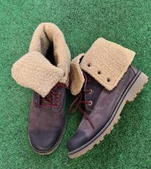 Smeđe čizme sa krznom Timberland