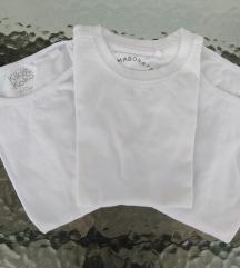 bijele majice-trening vel 4g. SNIŽENJE! 50% 19kn
