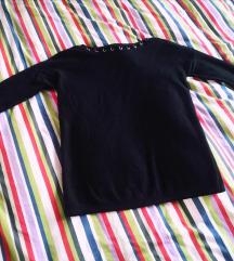 Reserved crna majica 3/4 rukava