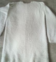 oversize  mucasta bijela tunika-haljna 40-42
