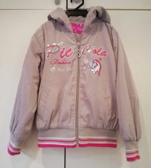 Siva šuškava topla jaknica