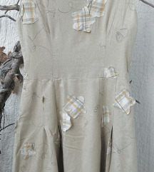 Dizajnerska haljina 100% lan