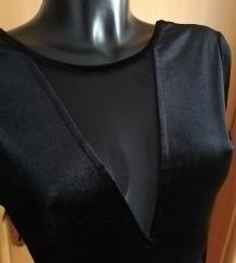 Baršunasta midi haljina- PT uključena- NOVO
