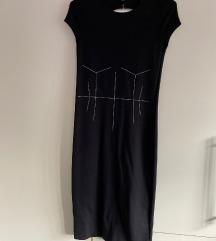 Zara crna uska  haljina M