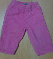 Roza Benetton samt hlače za bebe
