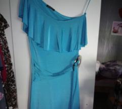 Haljina tirkizno plava