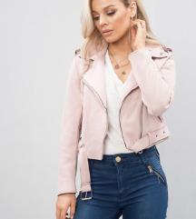Pink jakna od imitacije kože