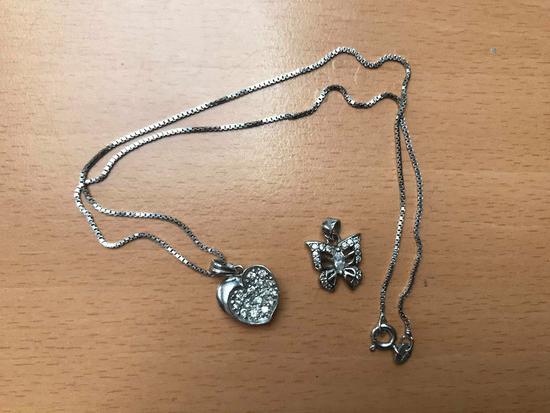 Lančić s 2 privjeska  - pravo srebro
