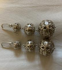 Zaks srebrne nausnice šibenski botuni srebro
