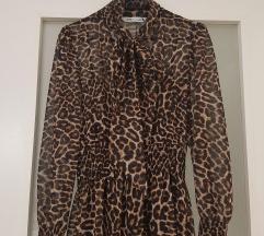 Zara leopard midi haljina NOVA