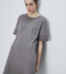 Zara siva haljina s gumbima na leđima M-L