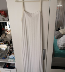 Mango bijela rebrasta haljina