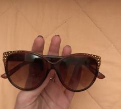 Smeđe sunčane naočale sa cirkonima