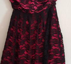 Crno roza haljina
