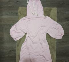 Roza haljina hoodie