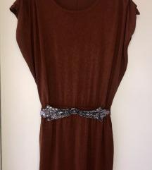 MANGO haljina boje cigle