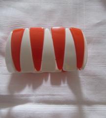 Narukvica bijelo - narančasta