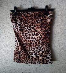 H&M leopard top-kao novo