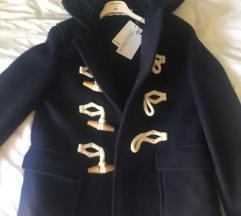 Modri duffle coat
