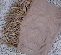 KOzna nude suknja sa resicama%