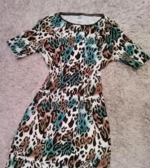 Retro haljina animal print XS do M! Snizeno!