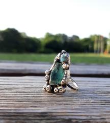 Prsten apatit i opal