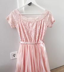 Čipkana svečana haljina